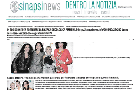 Sinapsinews: 3OO Donne per sostenere la Ricerca Oncologica Femminile